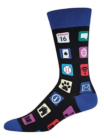 SockSmith Men Crew Apps Socks