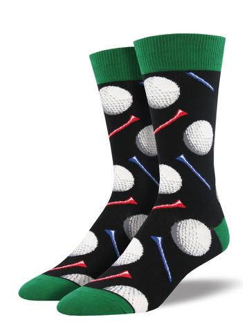 SockSmith Men Crew Tee It Up Black Socks