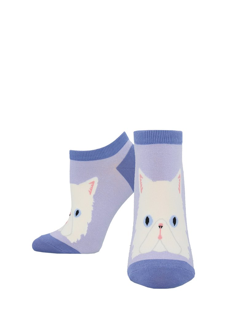 SockSmith Shortie Purrfectly Persian Light Lavender Socks