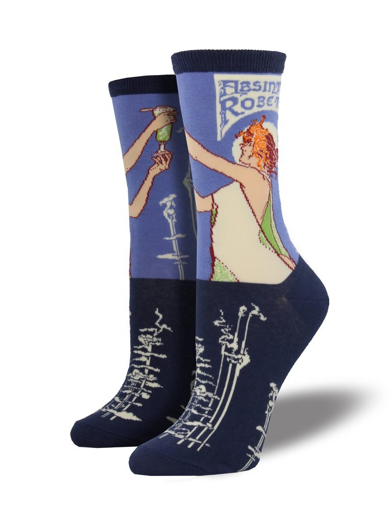 SockSmith Women Crew Absinthe Girl Periwinkle Socks