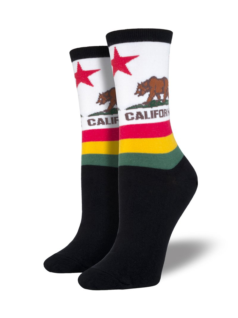 SockSmith Women Crew California Bear Socks