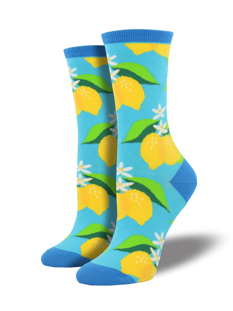 SockSmith Women Crew When Life Gives You Lemons Socks