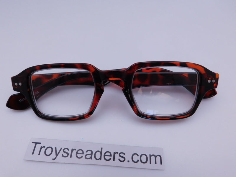 Square Readers in Three Colors Reader no Case Tortoise +1.50