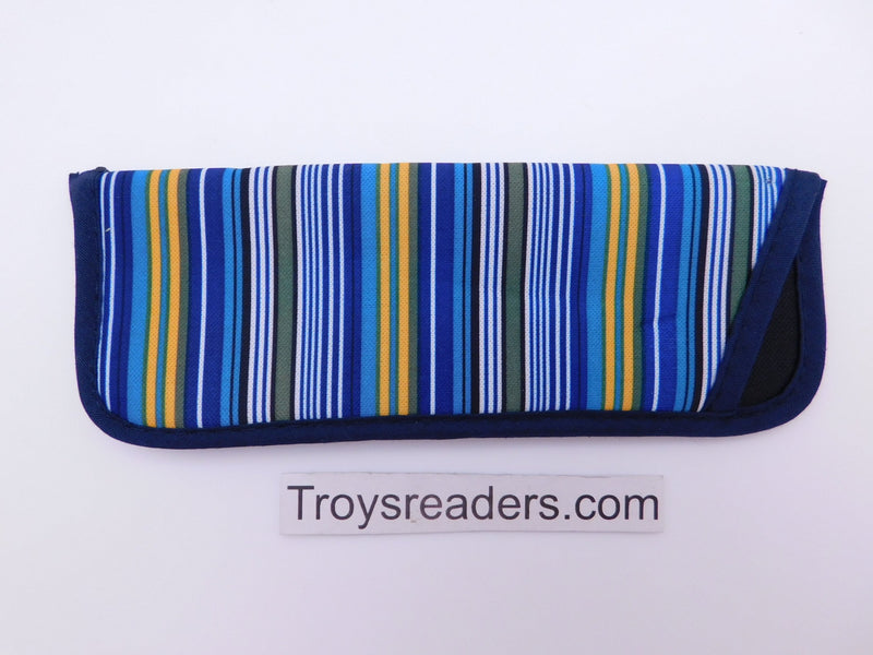 Striped Glasses Sleeve in Seven Designs Cases Blue and Yellow