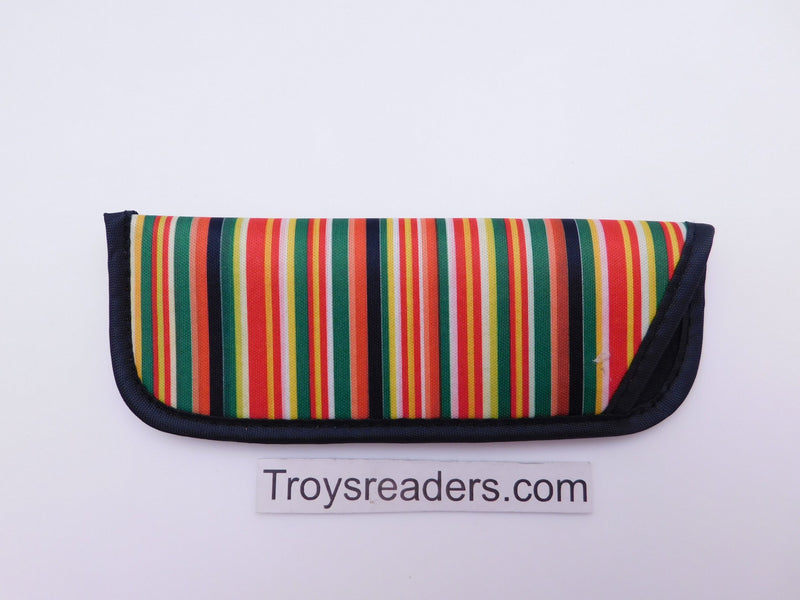 Striped Glasses Sleeve in Seven Designs Cases Orange and Green