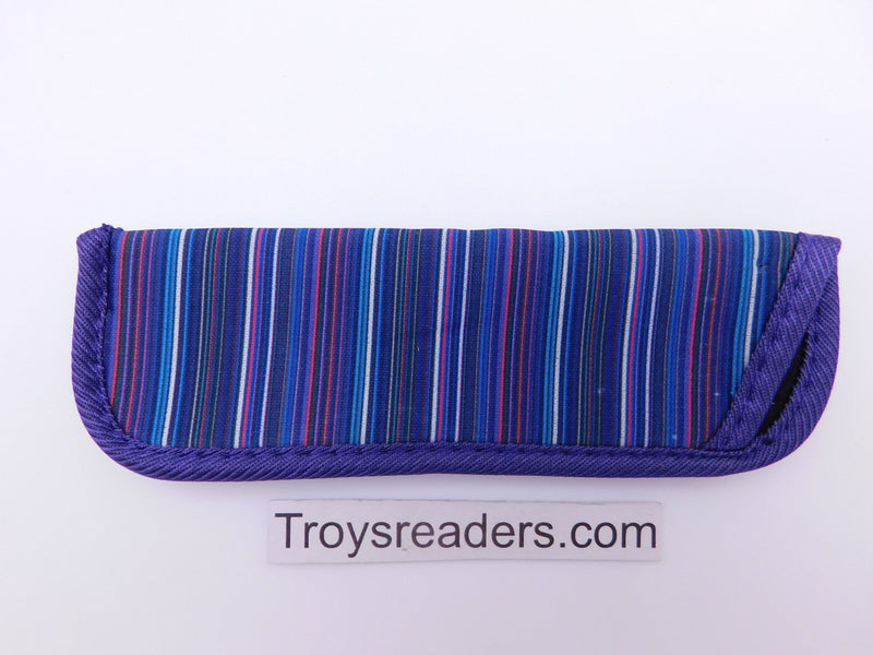 Striped Glasses Sleeve in Seven Designs Cases Purple and Blue