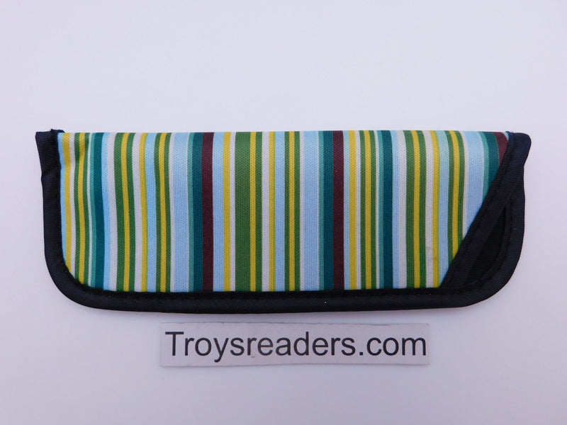 Striped Glasses Sleeve in Seven Designs Cases Yellow and Green
