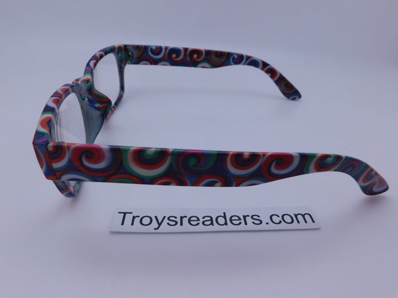 Swirl Readers With Case in Three Colors Reader with Display