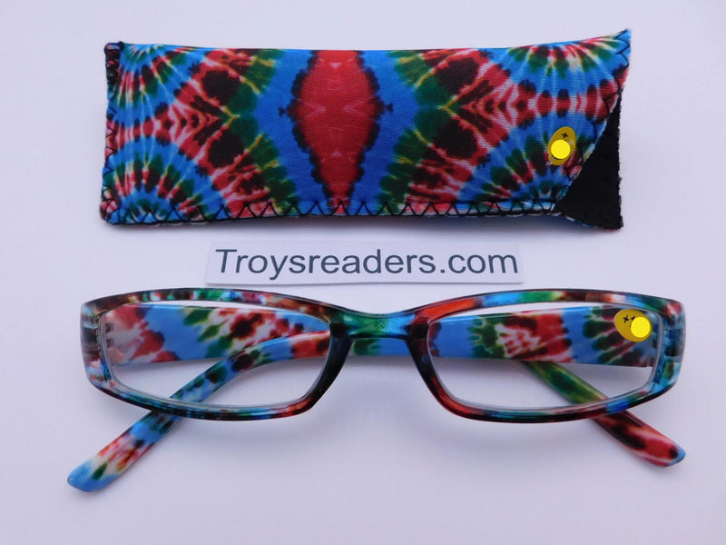 Tie Dye Readers With Case in Four Colors Reader with Display Kaleidoscope +1.00*