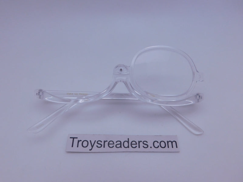 Translucent Makeup Reader In 4 Colors Makeup glasses Clear +1.00