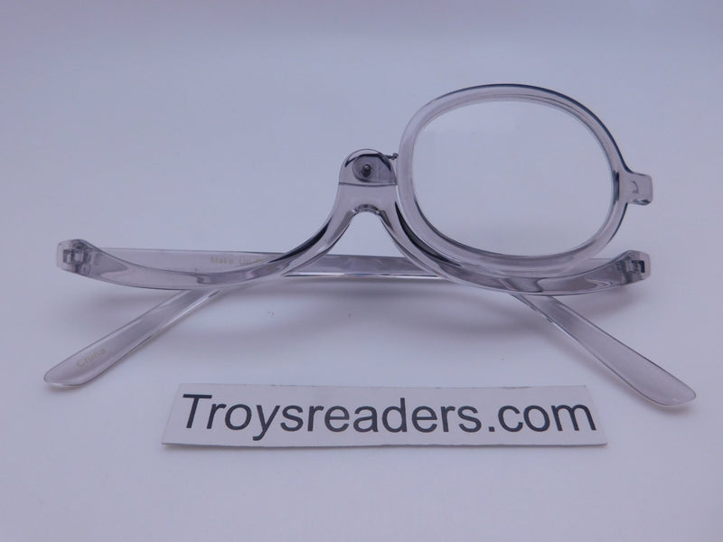Translucent Makeup Reader In 4 Colors Makeup glasses Grey +1.00