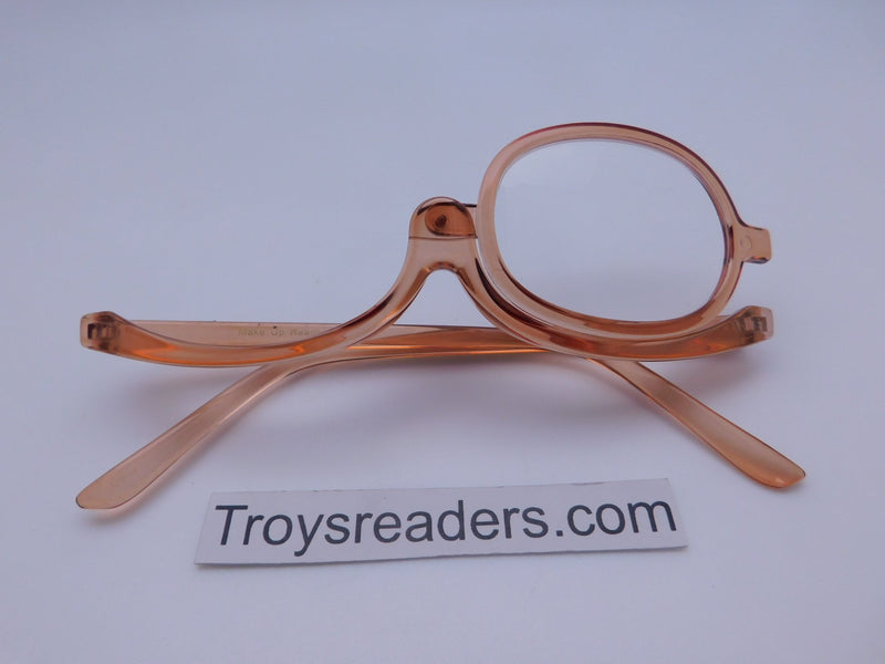 Translucent Makeup Reader In 4 Colors Makeup glasses Orange +1.00