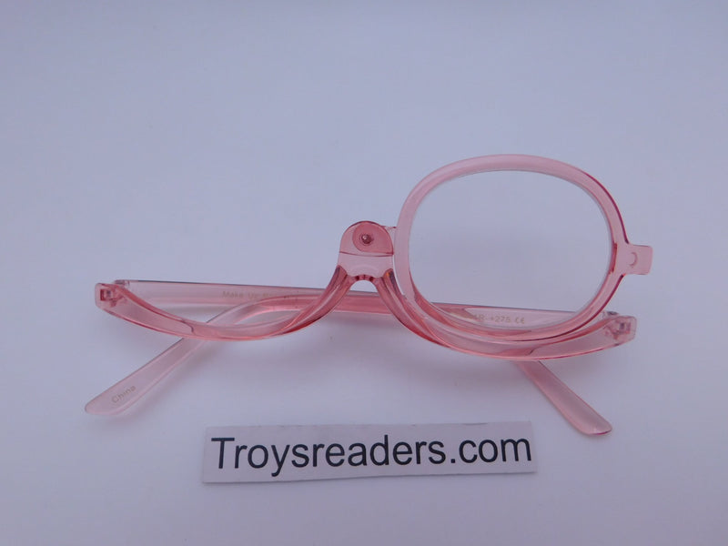 Translucent Makeup Reader In 4 Colors Makeup glasses Pink +1.00