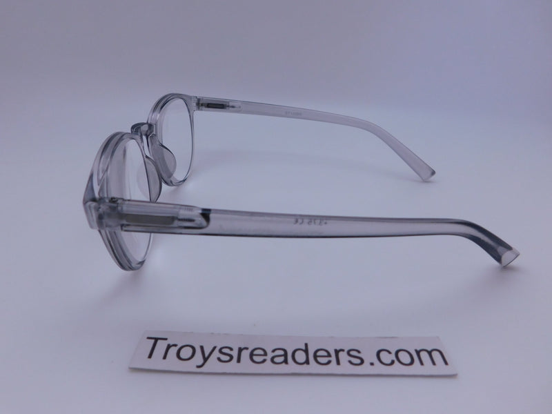 Translucent Round High Power Reading Glasses in Four Colors Reader no Case