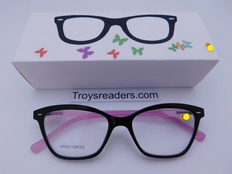 Trendy Fashion Black & Purple Readers With Box Reader with Display