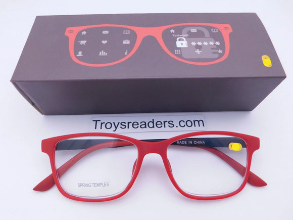 Trendy Fashion Red & Black Readers With Box Reader with Display