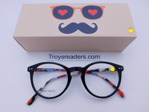 Trendy Fashion Round Keyhole Fame Readers With Box Reader with Display