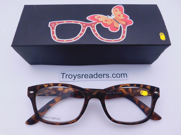 Trendy Fashion Tortoise Readers With Box Reader with Display