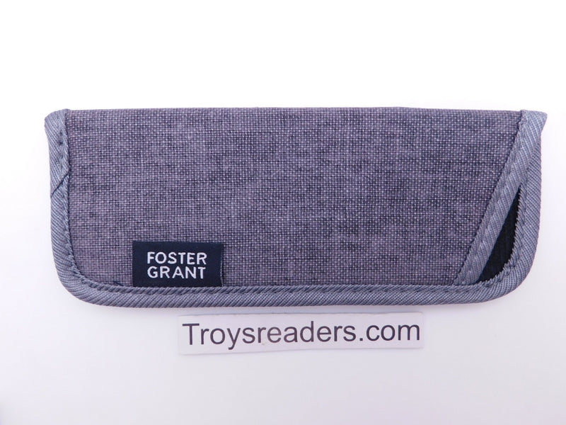 Trimmed Denim Fabric Glasses Sleeve/Pouch in Seven Colors Cases Gray