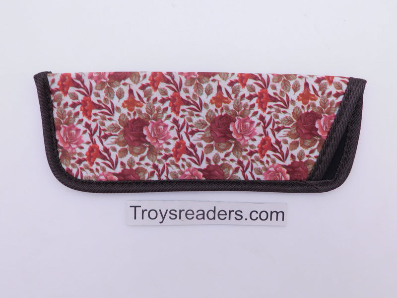 Trimmed Flower Glasses Sleeve/Pouch in 17 Prints Cases