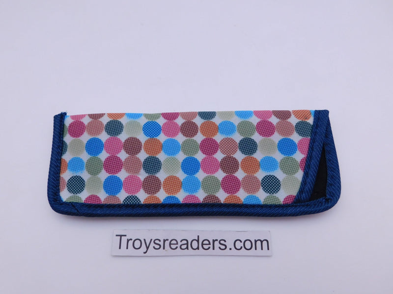 Trimmed Polkadot Glasses Sleeve Cases