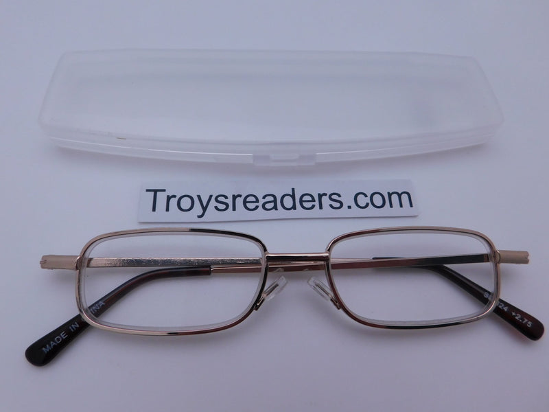 Very Slim Metal Readers In Four Colors Reader with Display Gold +1.00