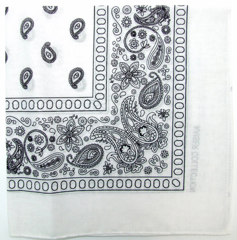 White Bandana 100% Cotton Bandana