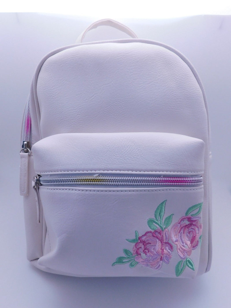 White With Roses Mini Backpack Backpack