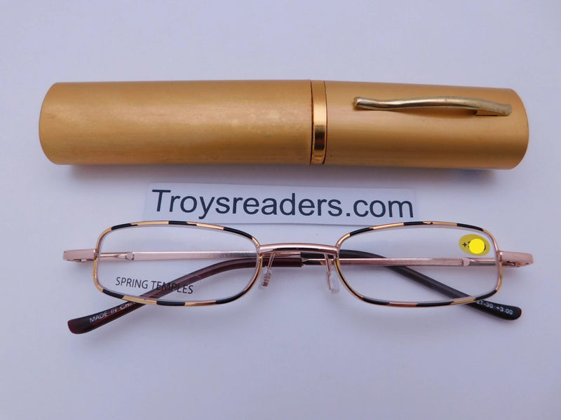 Wildlife Metal Tube Readers Twelve Colors Reader with Display Gold +1.25