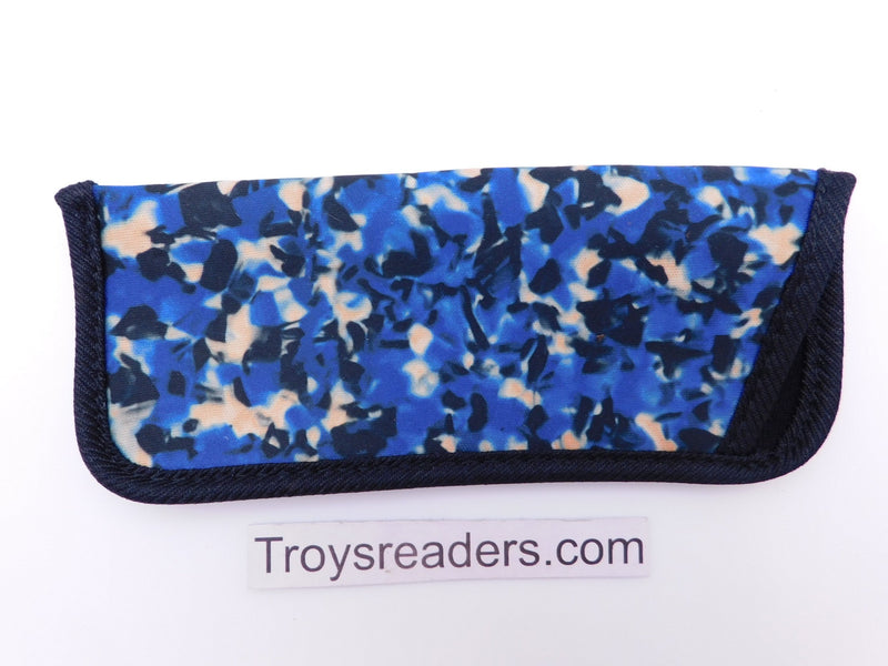 Woodstain Glasses Sleeve in Seven Colors Cases Blue