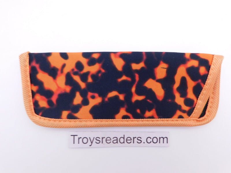 Woodstain Glasses Sleeve in Seven Colors Cases Orange
