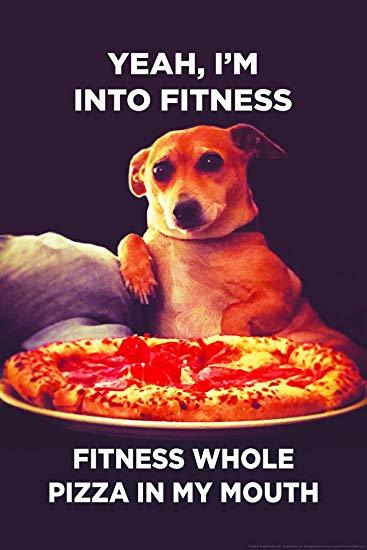 Yeah, I'm Into Fitness. Fitness Whole Pizza In My Mouth. Ephemera Refrigerator Magnet Fridge Magnet