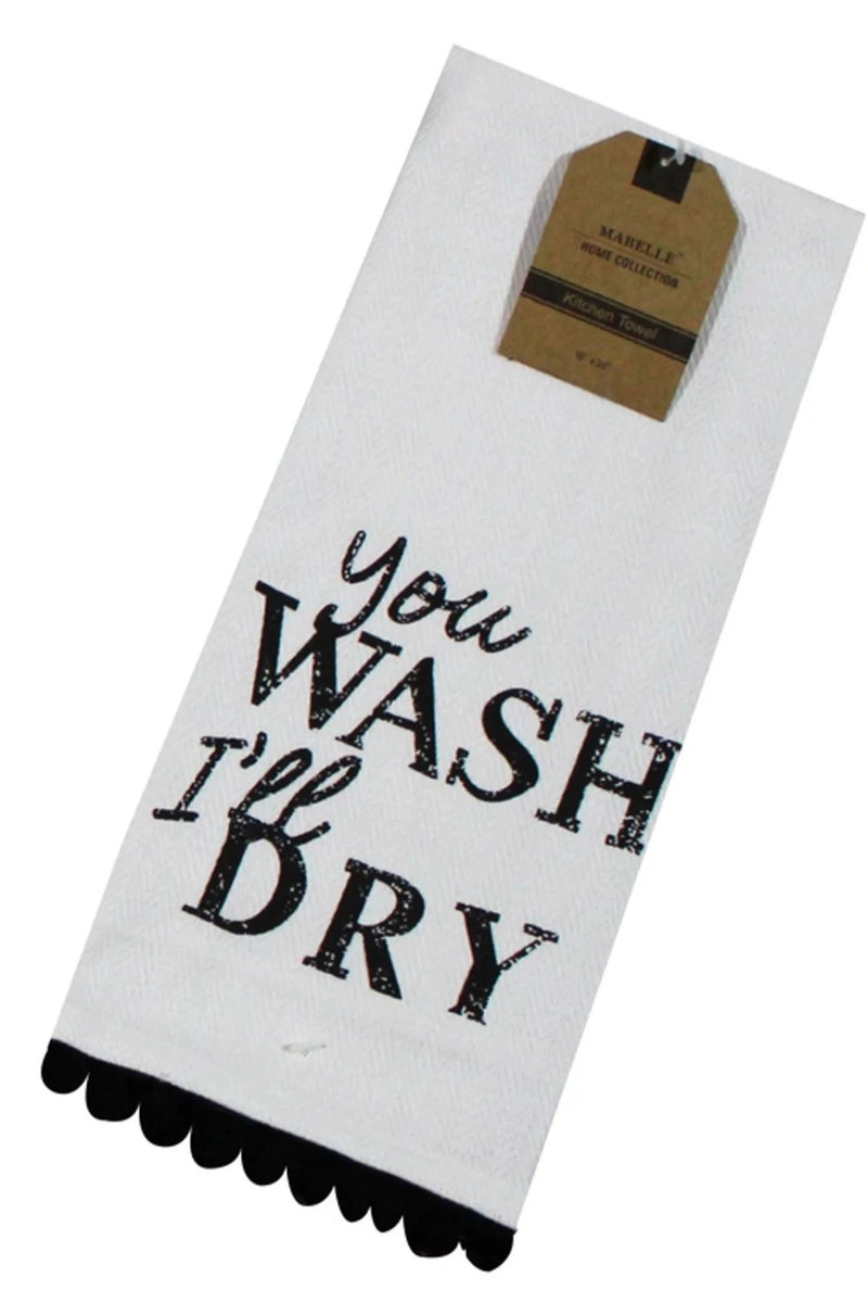 You Wash I'll Dry Dish Towel Dish Towel