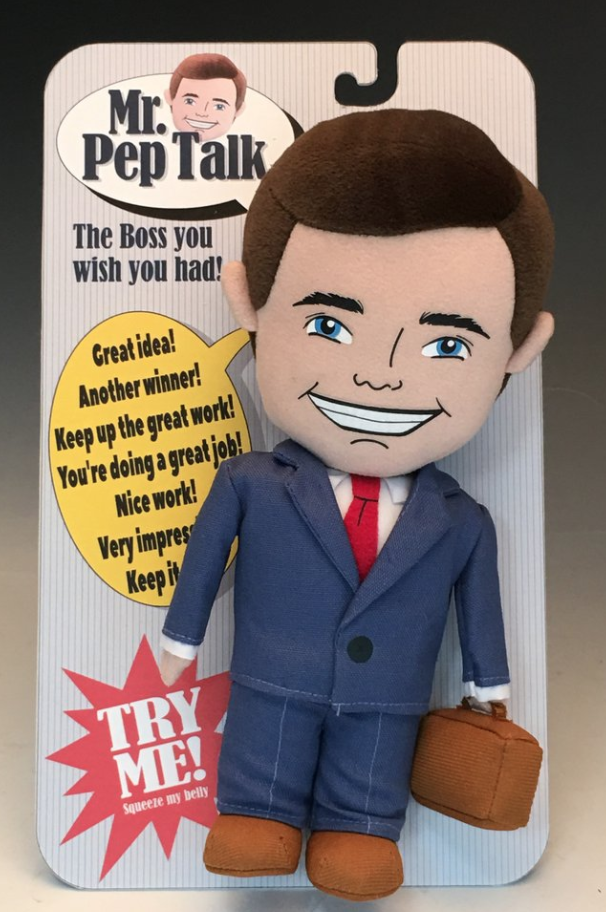 We all need a Pep Talk! Don't worry, Mr Pep Talk is here!