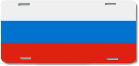 BrownInnovativeMedia Russia World Flag Metal License Plate Car Tag Cover