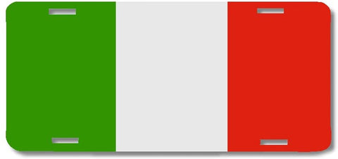 BrownInnovativeMedia Italy World Flag Metal License Plate Car Tag Cover