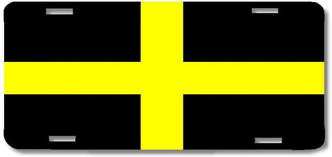BrownInnovativeMedia Saint David World Flag Metal License Plate Car Tag Cover