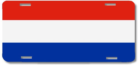BrownInnovativeMedia Netherlands World Flag Metal License Plate Car Tag Cover
