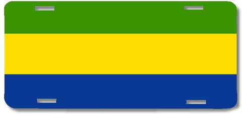 BrownInnovativeMedia Gabon World Flag Metal License Plate Car Tag Cover