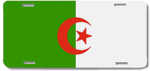 BrownInnovativeMedia Algeria World Flag Metal License Plate Car Tag Cover