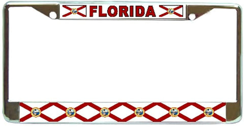Florida State License Plate Frame Holder Chrome …