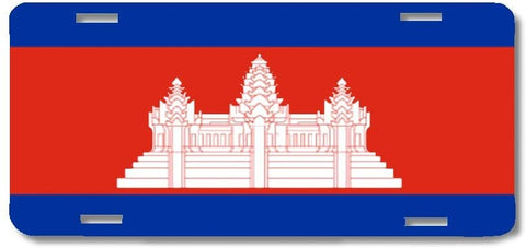 BrownInnovativeMedia Cambodia World Flag Metal License Plate Car Tag Cover