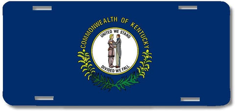 BrownInnovativeMedia Kentucky State Flag Metal License Plate Car Tag Cover