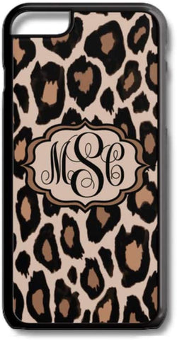 Leopard Cheetah Animal Pattern Custom Monogram for iPhone Case Cover 5/5S/SE/6/6S 6/6S 7 8 Plus X XS TPU