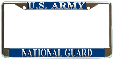 US Army National Guard Military License Plate Frame Holder Chrome …
