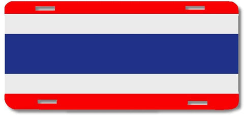 BrownInnovativeMedia Thailand World Flag Metal License Plate Car Tag Cover