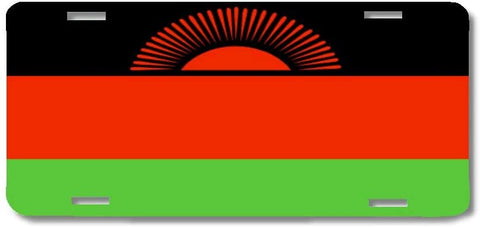 BrownInnovativeMedia Malawi World Flag Metal License Plate Car Tag Cover