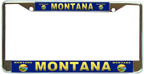 Montana State #3 License Plate Frame Holder Chrome …