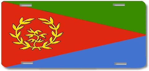 BrownInnovativeMedia Eritrea World Flag Metal License Plate Car Tag Cover
