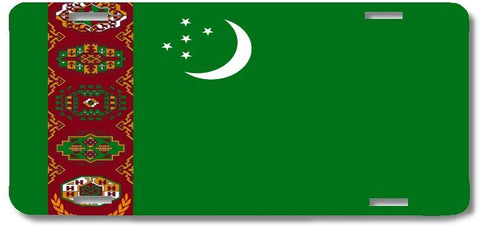 BrownInnovativeMedia Turkmenistan World Flag Metal License Plate Car Tag Cover